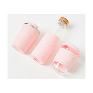 Neon Kactus Glass Water Bottle - Flamingo - 500ml