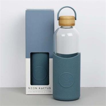 Neon Kactus Glass Water Bottle - Super Sonic - Blue - 1L
