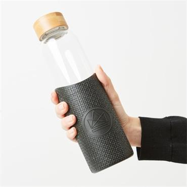 Neon Kactus Glass Water Bottle - Rock Star - 550ml