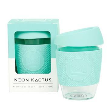 Neon Kactus Reusable Glass Cup - FREE SPIRIT MINT - 12oz/340ml