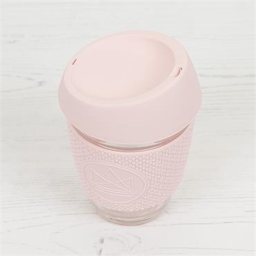 Neon Kactus Reusable Glass Cup - PINK FLAMINGO PINK - 12oz/340ml