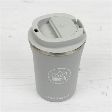 Stainless Steel Coffee Cup - Forever Young - Grey - 12OZ/380ml