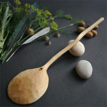 Oak and Jay Large wooden cooking spoon | Serving spoon | Hand carved oak wood | No. 103