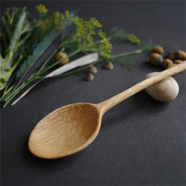 Oak and Jay Large wooden cooking spoon | Serving spoon | Hand carved oak wood | No. 107
