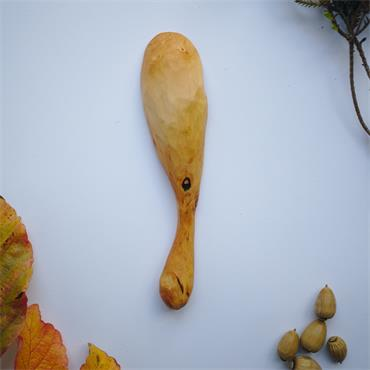Oak and Jay Wooden coffee scoop | Hand carved hawthorn wood | No. 152