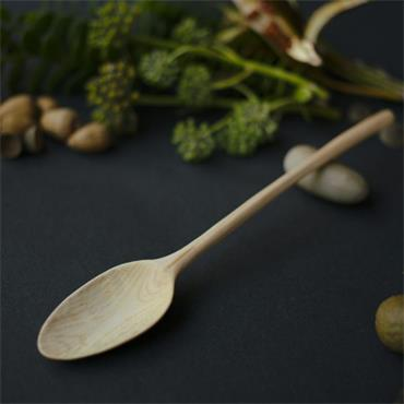Oak and Jay Wooden eating spoon | Hand carved ash wood | No. 140