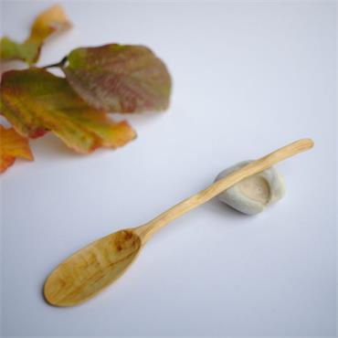 Oak and Jay Wooden eating spoon | Hand carved hawthorn wood | No. 150