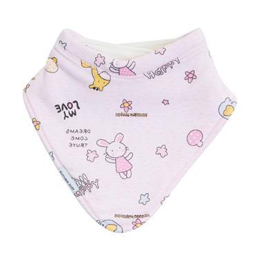 Autumn Baby Bib (Pink Bunny)