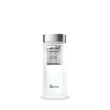 DOUBLE WALLED GLASS INFUSE FLASK 320ml