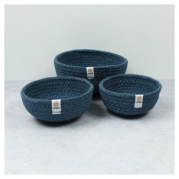 JUTE MINI BOWL SET DENIM