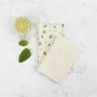 A Slice of Green Organic Cotton 'Scrub' Unsponge - Mint Leaf - Pack of 2