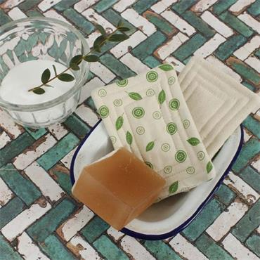 A Slice of Green Organic Cotton 'Smooth' Unsponge - Mint Leaf - Pack of 2