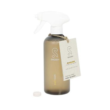 Skosh Recycled Plastic Spray Bottle + Cleaning Tablet - Bathroom