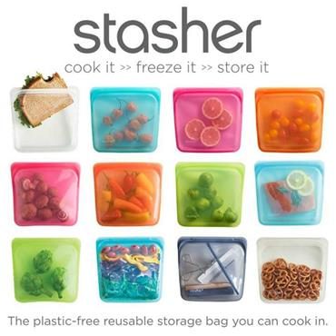 Stasher Re-Usable Food-Grade Platinum Silicone Sandwich Bag 19 x 18cm