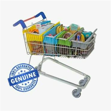 Trolley Bags Express - Set Of 4 Bags For Shallow Trolleys(Pastel)