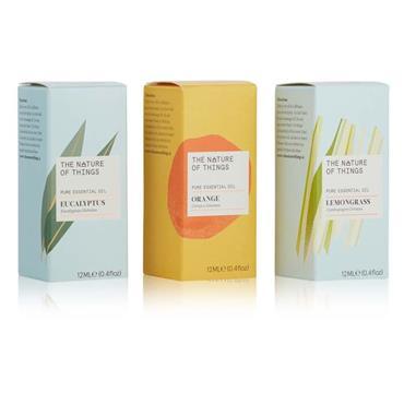 The Nature of Things Freshen Up Gift Set - Lemongrass, Orange & Eucalyptus Oils