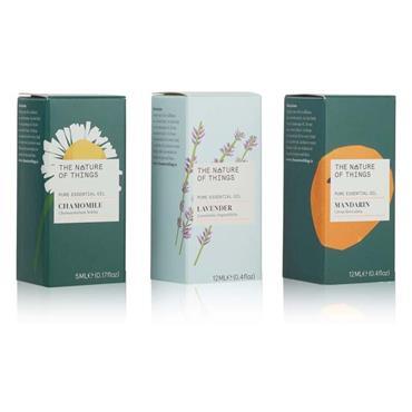The Nature of Things Sleep Well Gift Set - Lavender, Chamomile & Mandarin Oils