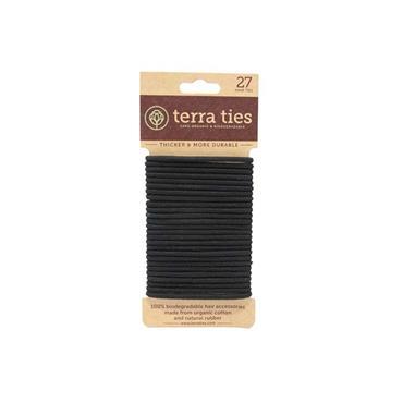 Terra Ties Natural Rubber Hair Ties - 27 Pack