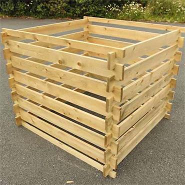 Giant Wooden Compost Bin