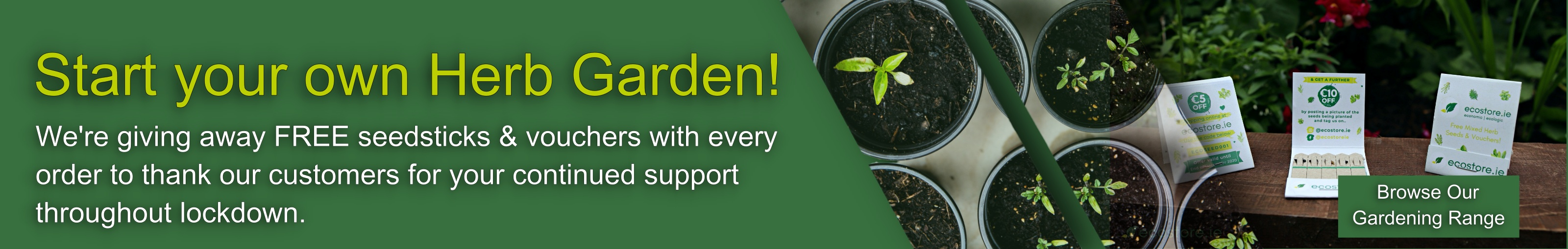 Start you own Herb Garden - Free Seedstick Giveaway