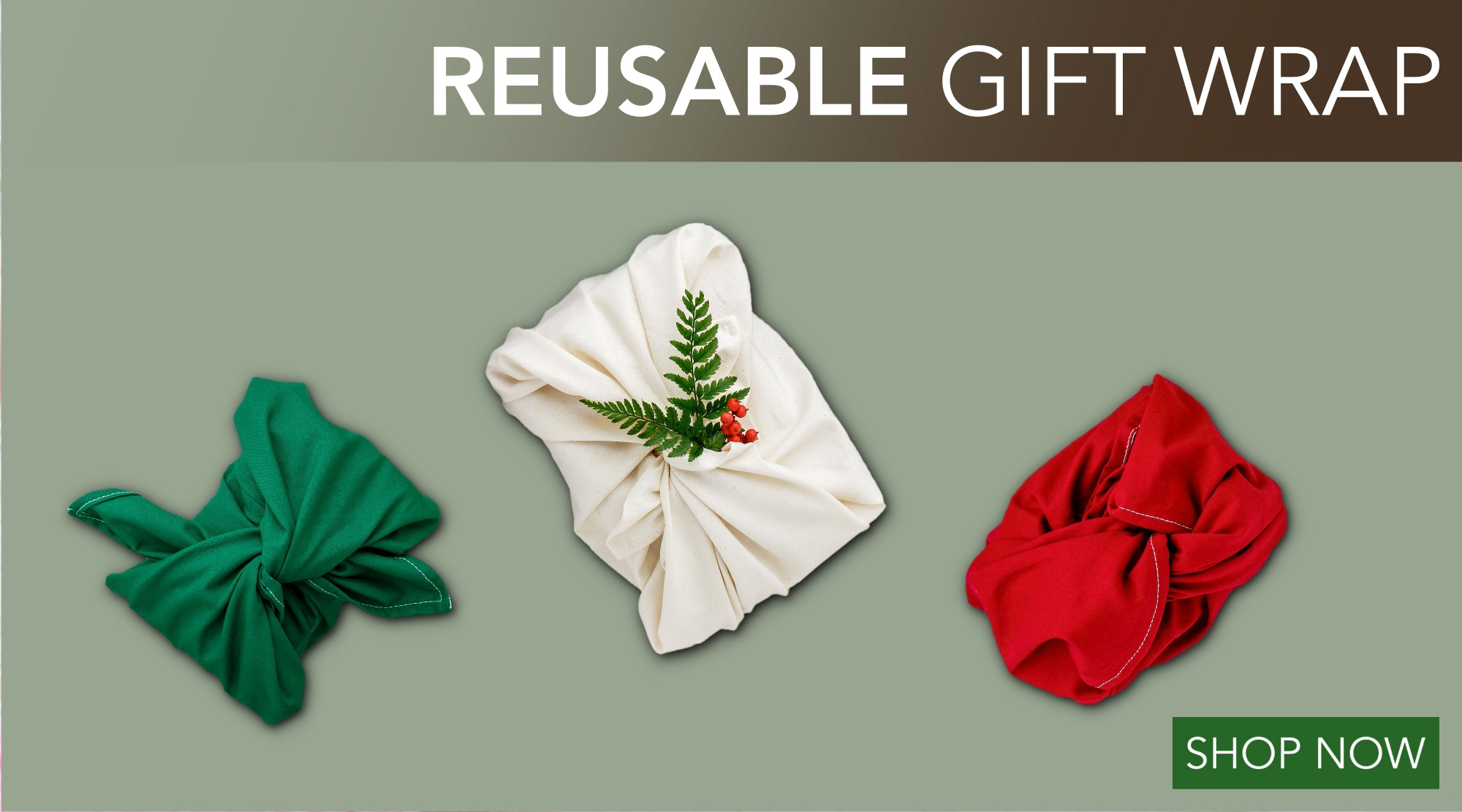 Zero Waste Gift Wrapping - Shop Now