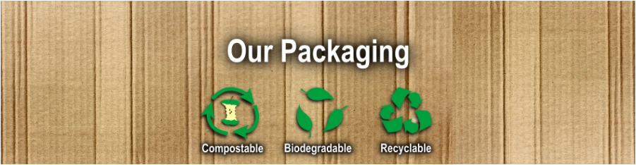 ecostore packaging logo - recyclable, compostable, biodegradable