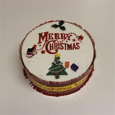7 Inch Iced on Top Christmas Cake