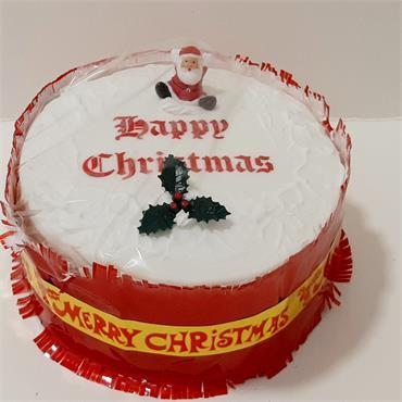 6 Inch Iced on Top Christmas Cake