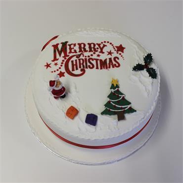 7 Inch Iced All Around Christmas Cake