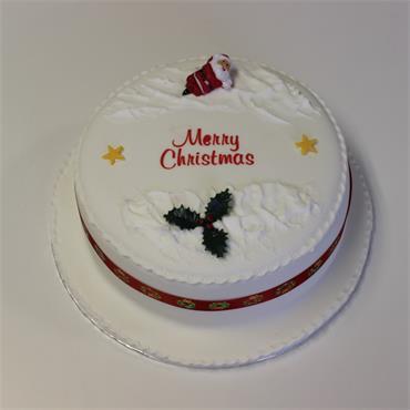 6 Inch Iced All Around Christmas Cake