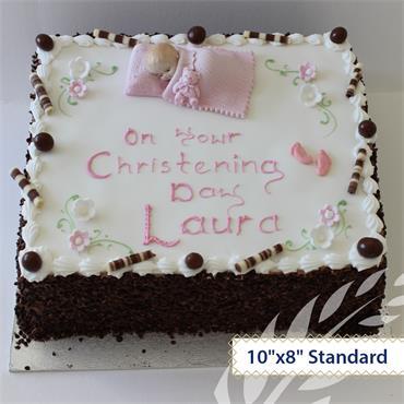Chocolate Maderia Christening Cake