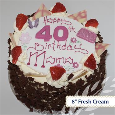 Fresh Cream Birthday Cake