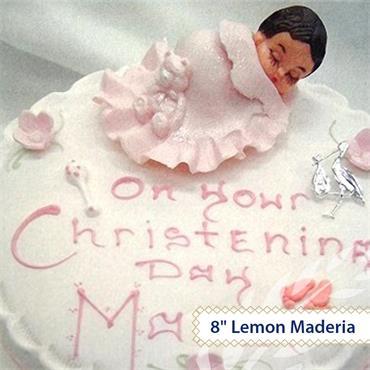 Maderia Christening Cake