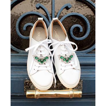 Alma Green Emerald Crystal shoe clips