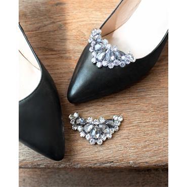 Alma Grey Crystal Shoe Clips