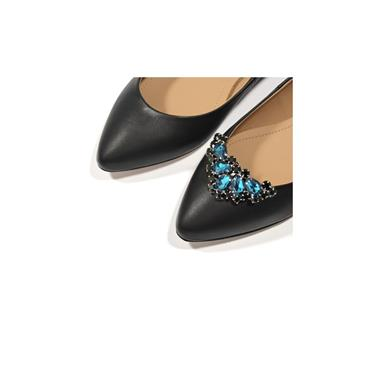 Alma Emerald Turquoise Shoe Clips