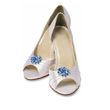 Amanda Shoe Clips - Aqua Blue