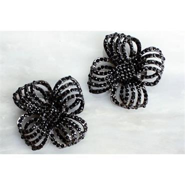 Athena Black Shoe Clips by Absolutely Audrey