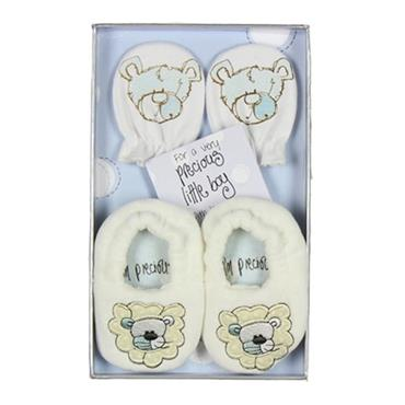 Precious Baby Boy Booties & Mittens Gift Set