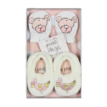 Precious Baby Girl Booties & Mittens Gift Set