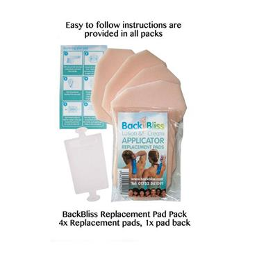 BackBliss Replacement Pads 4x plus 1x Pad Back