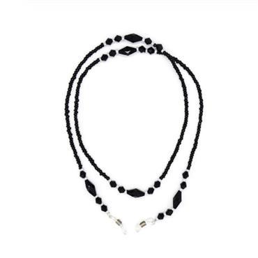 Black Beaded Glasses Chain
