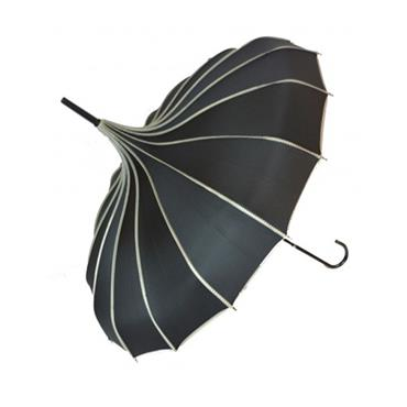 Black Princess Pagoda Umbrella - Shipping to Ireland Only