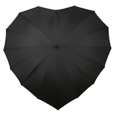 Black Heart Umbrella - Shipping to Ireland Only