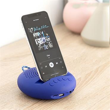 Blue Wireless Speaker with Holder
