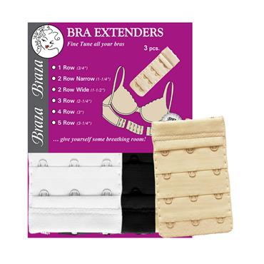 Braza Bra Extender 3 Hook Assorted