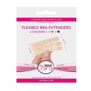 Flexible Bra Extenders 3 Hook 4 Colours