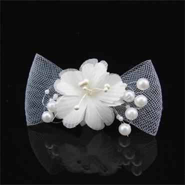 Butterfly Pearl and Lace Bow Hair Pin