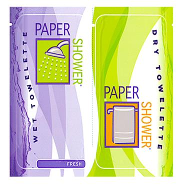 Paper Shower - Wet & Dry Body Wipes Fresh (5 Pack Combo)
