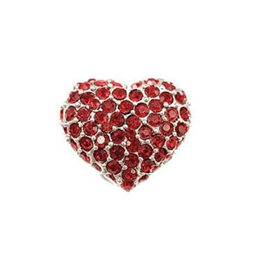 Perfume Brooch Puffed Heart Fuschia